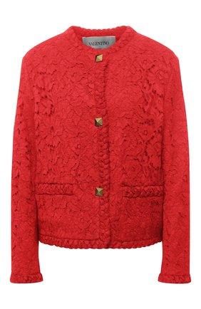 Женский жакет VALENTINO красного цвета, арт. VB3CE2651EC | Фото 1