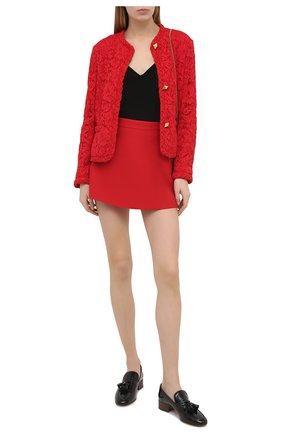 Женский жакет VALENTINO красного цвета, арт. VB3CE2651EC | Фото 2