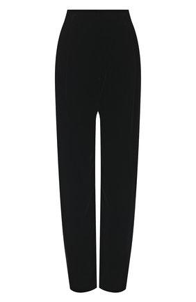 Женские брюки из вискозы и шелка GIORGIO ARMANI черного цвета, арт. 1SHPP0GB/T01FD | Фото 1
