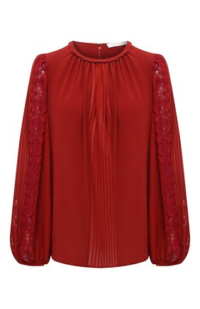 Женская шелковая блузка CHLOÉ красного цвета, арт. CHC21SHT02002 | Фото 1