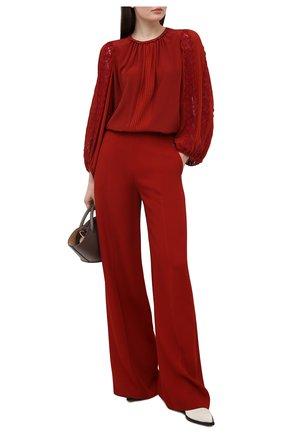 Женская шелковая блузка CHLOÉ красного цвета, арт. CHC21SHT02002 | Фото 2