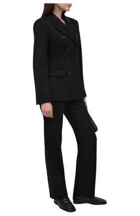 Женские шерстяные брюки CHLOÉ черного цвета, арт. CHC21SPA05066 | Фото 2