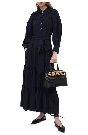 Женское платье CHLOÉ темно-синего цвета, арт. CHC21SR002032 | Фото 2