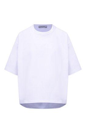 Женская хлопковая футболка VALENTINO белого цвета, арт. VB3MG11A66B | Фото 1