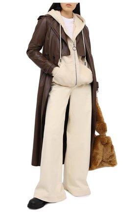 Женский хлопковая толстовка OFF-WHITE бежевого цвета, арт. 0WBE005R21JER001 | Фото 2