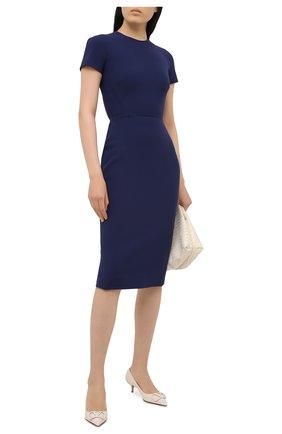 Женское платье VICTORIA BECKHAM темно-синего цвета, арт. 1121WDR002372A | Фото 2
