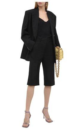 Женские шорты VICTORIA BECKHAM черного цвета, арт. 1121WTR002337A | Фото 2