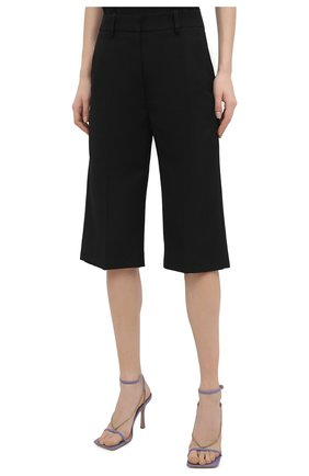 Женские шорты VICTORIA BECKHAM черного цвета, арт. 1121WTR002337A   Фото 3
