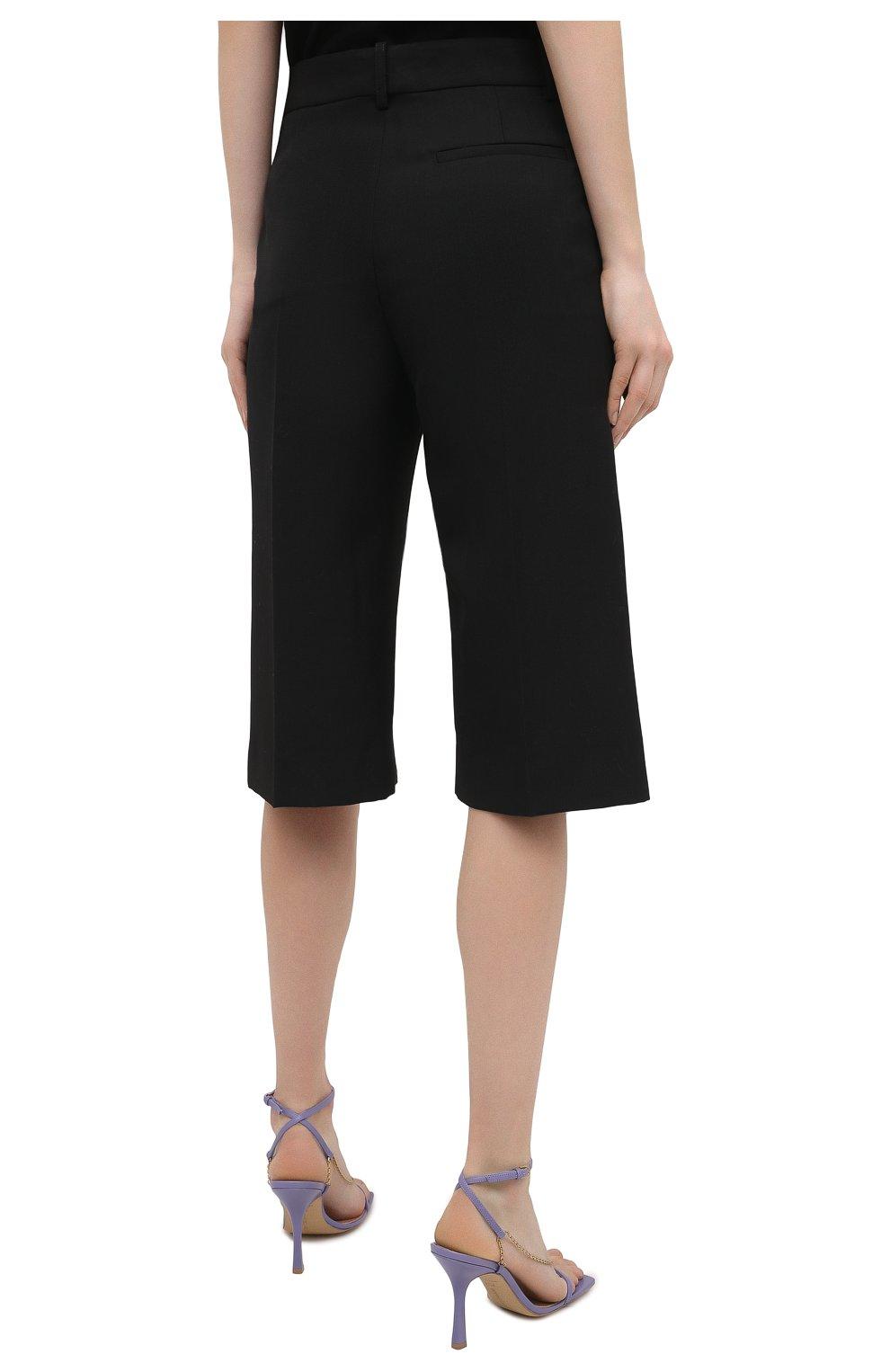 Женские шорты VICTORIA BECKHAM черного цвета, арт. 1121WTR002337A   Фото 4
