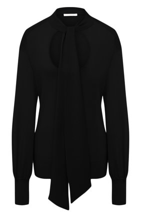 Женский шерстяной пуловер CHLOÉ черного цвета, арт. CHC21SMP80520 | Фото 1