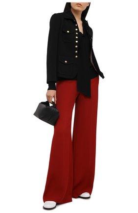 Женский шерстяной пуловер CHLOÉ черного цвета, арт. CHC21SMP80520 | Фото 2