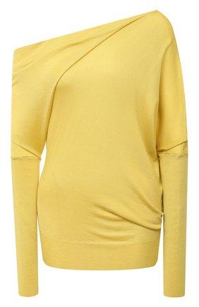 Женский кашемировый пуловер TOM FORD желтого цвета, арт. MAK697-YAX087 | Фото 1