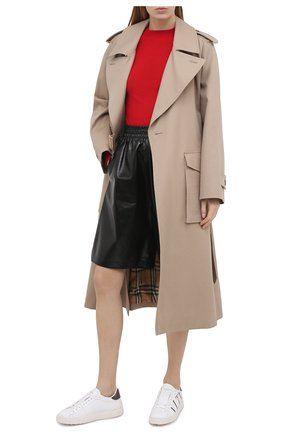 Женские кожаные кеды valentino garavani open VALENTINO черно-белого цвета, арт. VW2S0781/PST | Фото 2