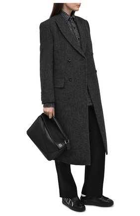 Женские кожаные кеды valentino garavani open VALENTINO черно-белого цвета, арт. VW2S0781/XZU | Фото 2