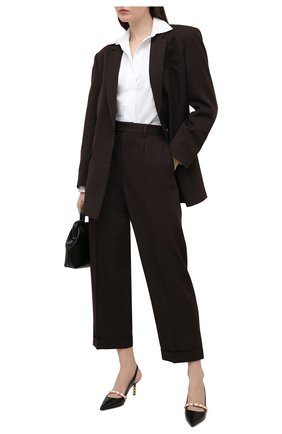 Женские кожаные туфли valentino garavani rockstud VALENTINO черно-белого цвета, арт. VW2S0BK6/FHQ | Фото 2