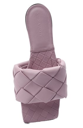 Женские кожаные шлепанцы lido BOTTEGA VENETA светло-розового цвета, арт. 608853/VBSS0 | Фото 5