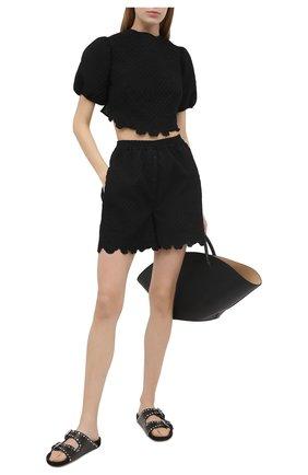 Женские шорты CECILIE BAHNSEN черного цвета, арт. SC21-0059 | Фото 2