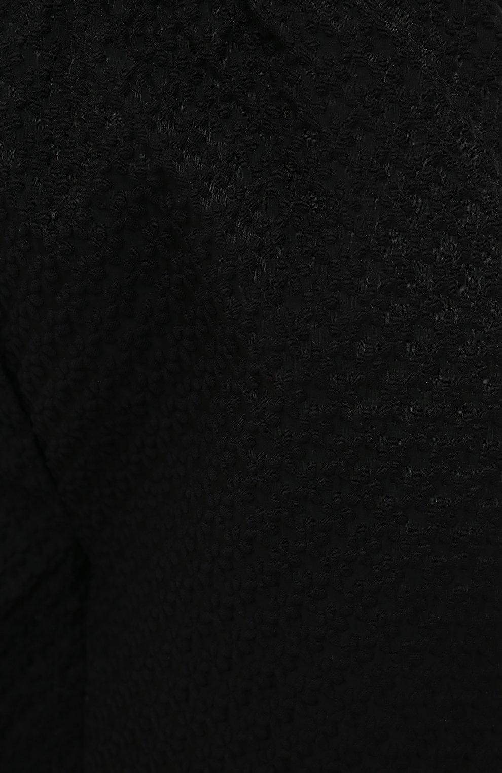 Женские шорты CECILIE BAHNSEN черного цвета, арт. SC21-0059 | Фото 5 (Женское Кросс-КТ: Шорты-одежда; Длина Ж (юбки, платья, шорты): Мини; Материал внешний: Хлопок; Стили: Романтичный)