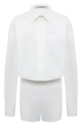 Женский хлопковый комбинезон VALENTINO белого цвета, арт. VB3AB1Y55DN | Фото 1