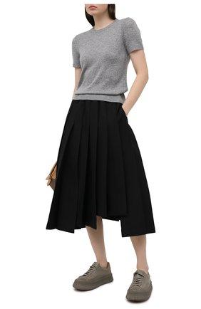 Женский кашемировый топ THEORY светло-серого цвета, арт. J0118706 | Фото 2