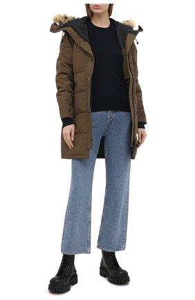 Женский кашемировый пуловер THEORY темно-синего цвета, арт. J0118711 | Фото 2
