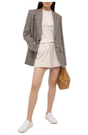 Женский кашемировый пуловер THEORY кремвого цвета, арт. J1018703 | Фото 2
