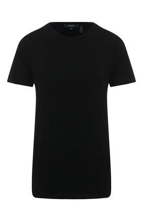 Женская хлопковая футболка THEORY черного цвета, арт. K0324517 | Фото 1