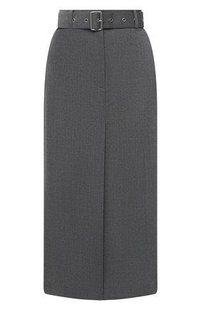 Женская юбка HELMUT LANG светло-серого цвета, арт. K06HW303 | Фото 1