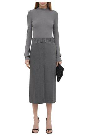 Женская юбка HELMUT LANG светло-серого цвета, арт. K06HW303 | Фото 2