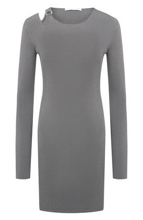 Женское платье из вискозы HELMUT LANG светло-серого цвета, арт. K06HW712 | Фото 1