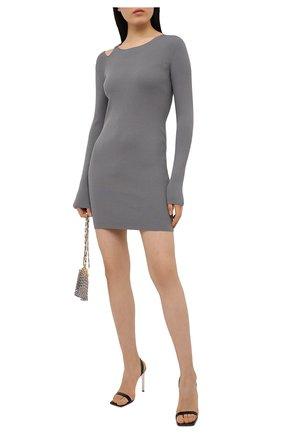 Женское платье из вискозы HELMUT LANG светло-серого цвета, арт. K06HW712 | Фото 2