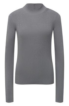 Женский пуловер из вискозы HELMUT LANG светло-серого цвета, арт. K06HW715 | Фото 1