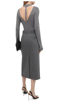 Женский пуловер из вискозы HELMUT LANG светло-серого цвета, арт. K06HW715 | Фото 2