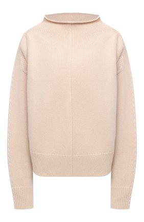 Женский шерстяной свитер HELMUT LANG бежевого цвета, арт. K06HW719 | Фото 1
