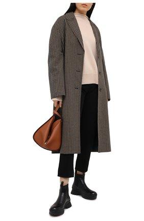 Женский шерстяной свитер HELMUT LANG бежевого цвета, арт. K06HW719 | Фото 2