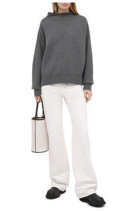 Женский шерстяной свитер HELMUT LANG серого цвета, арт. K06HW719 | Фото 2