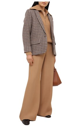 Женский шерстяной свитер THEORY бежевого цвета, арт. K1111710 | Фото 2