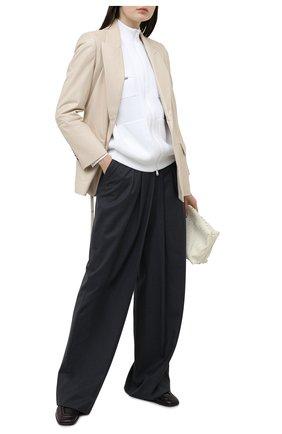 Женский кожаный жакет BRUNELLO CUCINELLI кремвого цвета, арт. MPTAN2254 | Фото 2