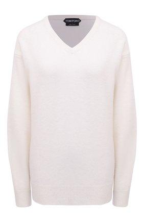 Женский кашемировый пуловер TOM FORD белого цвета, арт. MAK1049-YAX293 | Фото 1