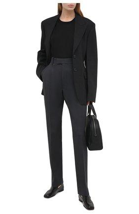 Женская футболка из кашемира и шелка TOM FORD черного цвета, арт. MAK949-YAX087   Фото 2