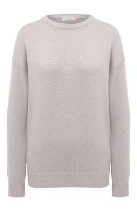 Женский пуловер из кашемира и шелка BRUNELLO CUCINELLI розового цвета, арт. M73539900 | Фото 1