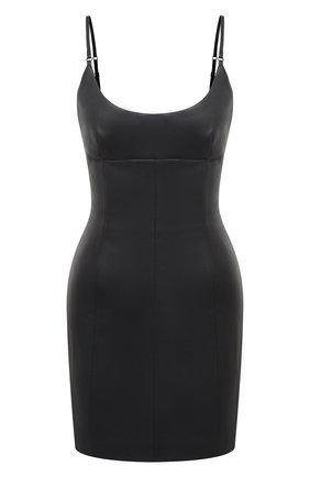Женское кожаное платье ALEXANDER WANG черного цвета, арт. 1WC2206327 | Фото 1