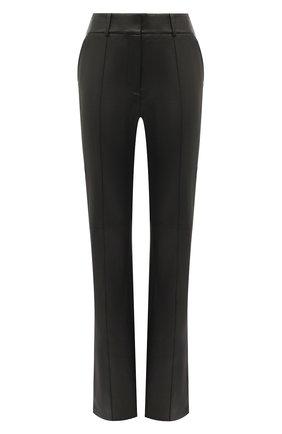 Женские кожаные брюки ALEXANDER WANG черного цвета, арт. 1WC2204294 | Фото 1