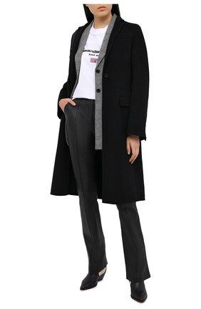 Женские кожаные брюки ALEXANDER WANG черного цвета, арт. 1WC2204294 | Фото 2