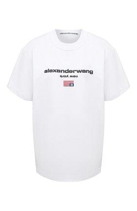 Женская хлопковая футболка DENIM X ALEXANDER WANG белого цвета, арт. UCC1211344   Фото 1