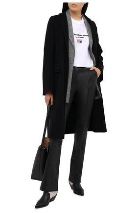 Женская хлопковая футболка DENIM X ALEXANDER WANG белого цвета, арт. UCC1211344   Фото 2