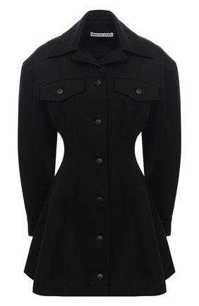 Женское джинсовое платье ALEXANDERWANG.T черного цвета, арт. 4WC1216104 | Фото 1
