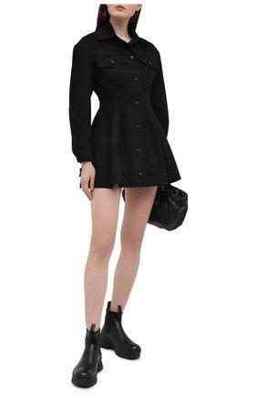 Женское джинсовое платье ALEXANDERWANG.T черного цвета, арт. 4WC1216104 | Фото 2