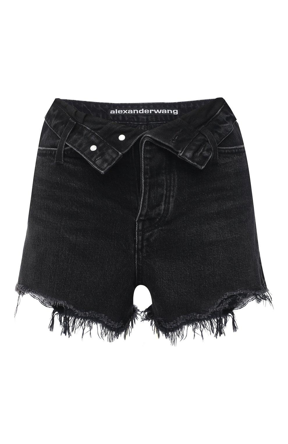 Женские джинсовые шорты DENIM X ALEXANDER WANG серого цвета, арт. 4DC2194542 | Фото 1 (Женское Кросс-КТ: Шорты-одежда; Кросс-КТ: Деним; Длина Ж (юбки, платья, шорты): Мини; Материал внешний: Хлопок; Стили: Кэжуэл)