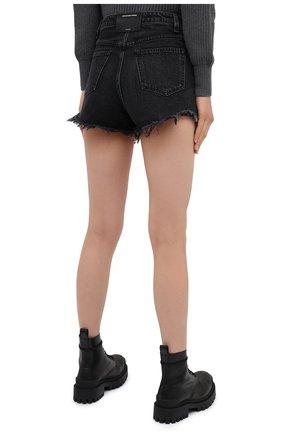 Женские джинсовые шорты DENIM X ALEXANDER WANG серого цвета, арт. 4DC2194542 | Фото 4 (Женское Кросс-КТ: Шорты-одежда; Кросс-КТ: Деним; Длина Ж (юбки, платья, шорты): Мини; Материал внешний: Хлопок; Стили: Кэжуэл)